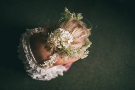 Queen Anne's Lace as a flower crown